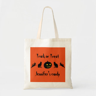 Track or Treat Skull Spider Personalized Halloween