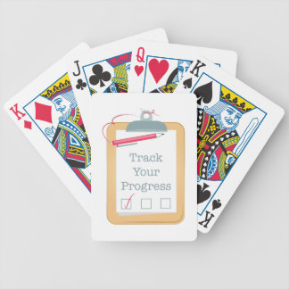 Track Progress Bicycle Playing Cards
