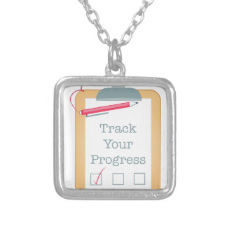 Track Progress Silver Plated Necklace