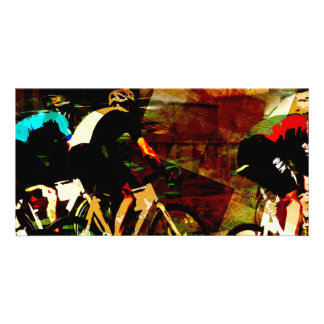 Track Racing Picture Card
