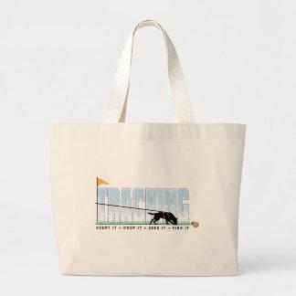 Tracking Dog Large Tote Bag