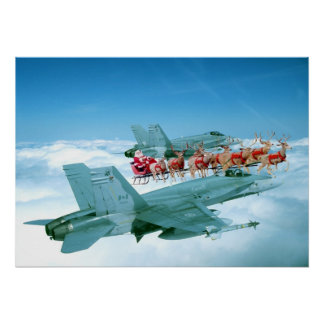 Tracking Santa Claus by the Air Force Poster