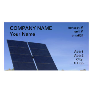 tracking solar panel business card