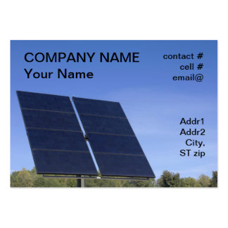 tracking solar panel large business card