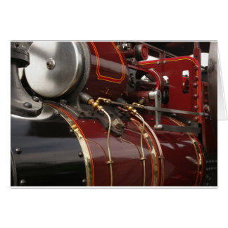 traction engine in close-up card
