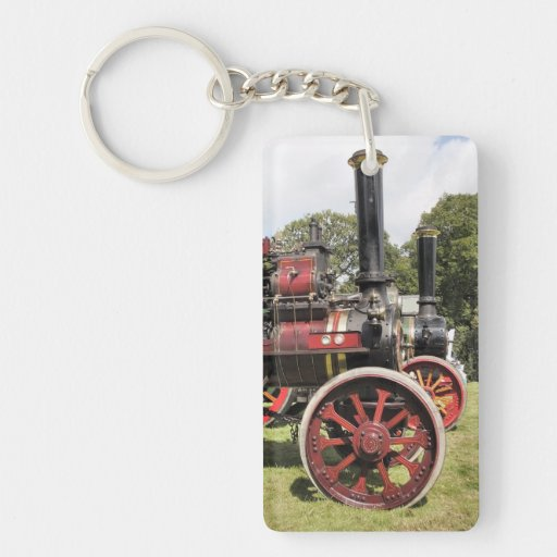 TRACTION ENGINES RECTANGULAR ACRYLIC KEY CHAINS