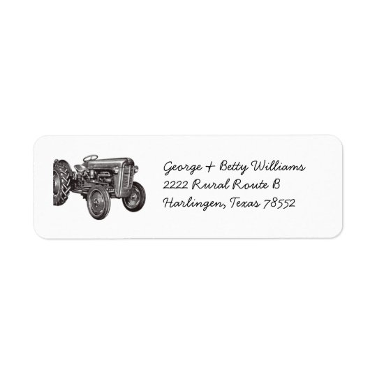 Tractor Address Labels