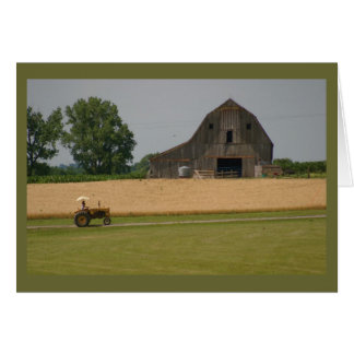 Tractor and Barn Greeting Card