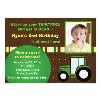 Tractor Birthday Invitation 5x7 Photo Card