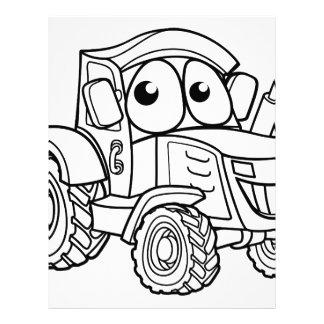 Tractor Cartoon Character Letterhead