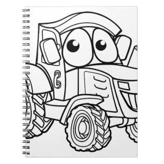 Tractor Cartoon Character Notebook