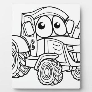 Tractor Cartoon Character Plaque