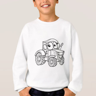 Tractor Cartoon Character Sweatshirt