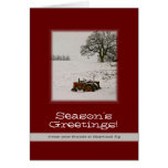 Tractor Christmas Card: Add Your Business Name