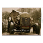 Tractor Christmas Card: Old Tractor Memories Greeting Card