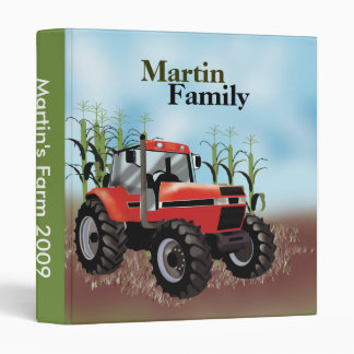 Tractor Farm Farming Country Family Photo 3 Ring Binder