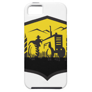 Tractor Harvesting Wheat Farm Crest Retro Case For The iPhone 5