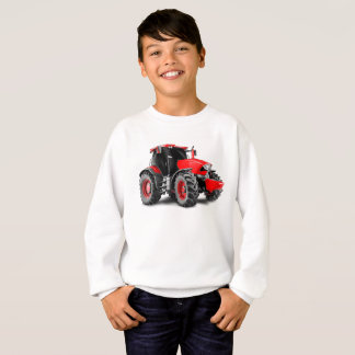 Tractor image for Kids'-Sweatshirt-White Sweatshirt