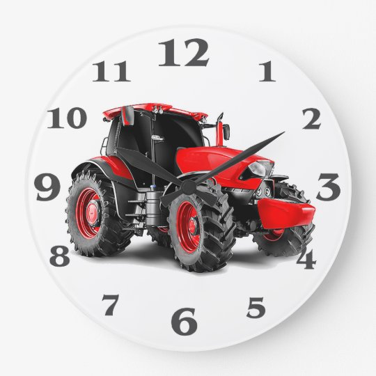 Tractor image for Round-Large-Wall-Clock Wall Clock