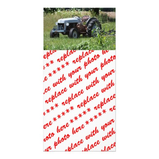 Tractor in a Field Personalized Photo Card