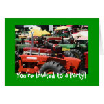 Tractor Invitation: Colourful tractor party Cards