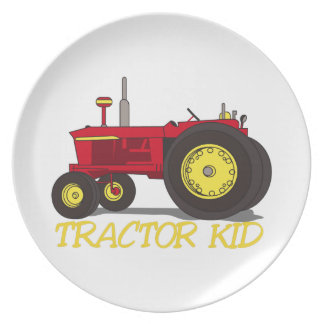 Tractor Kid Plate