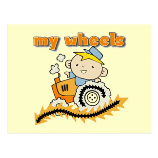 Tractor My Wheels Tshirts and Gifts Postcard