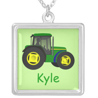 Tractor Name Necklace