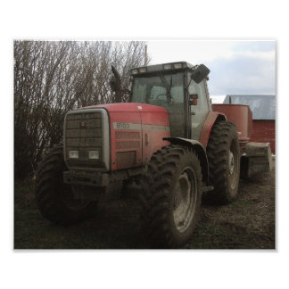 Tractor on the Farm Photo Print
