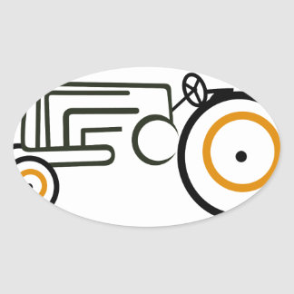 Tractor Oval Sticker