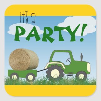 Tractor Party Envelope Seal