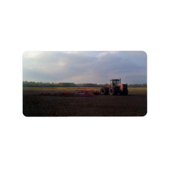 Tractor resting after tilling