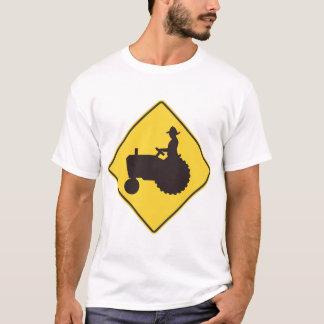Tractor Road Sign Mens T-Shirt