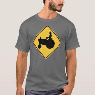 Tractor Road Sign Warning T-Shirt