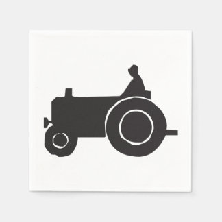Tractor Silhouette Paper Napkins