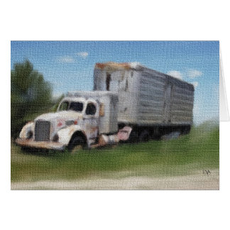Tractor/Trailer In A Field Card