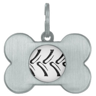 Tractor Tread Grunge Pet Name Tag