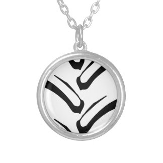 Tractor Tread Pattern Silver Plated Necklace