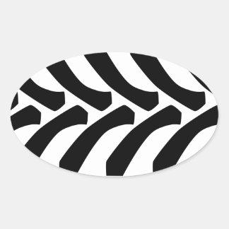Tractor Tyre Tread Marks Oval Sticker