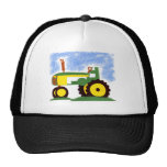 Tractor under Blue Sky Mesh Hat