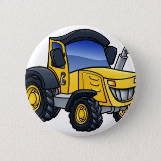 Tractor Vehicle Cartoon 2 Inch Round Button