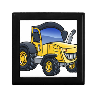 Tractor Vehicle Cartoon Gift Box