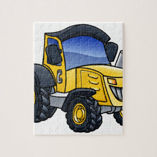 Tractor Vehicle Cartoon Jigsaw Puzzle