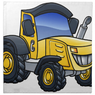 Tractor Vehicle Cartoon Napkin