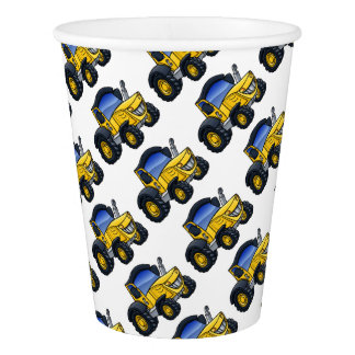 Tractor Vehicle Cartoon Paper Cup