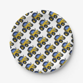 Tractor Vehicle Cartoon Paper Plate