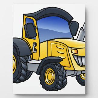 Tractor Vehicle Cartoon Plaque