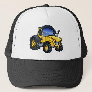 Tractor Vehicle Cartoon Trucker Hat