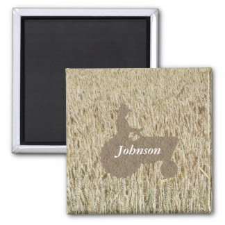 Tractor & Wheat Magnet