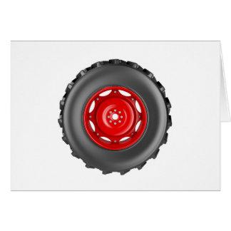 Tractor wheel card